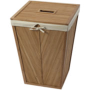 Creative Bath™ Eco Styles Bamboo Square Hamper with Lid