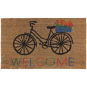 JCPenney Home™ Welcome Bike Coir Doormat