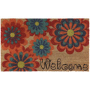 JCPenney Home™ Floral Blooming Coir Doormat