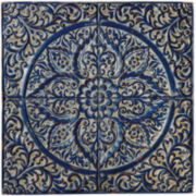 Distressed Indigo Wall Medallion