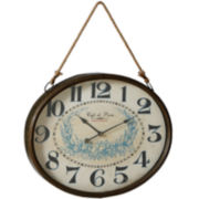 Café de Paris Floral Wall Clock