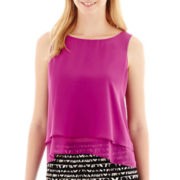 Bisou Bisou® Sleeveless Tiered Blouse
