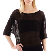Bisou Bisou® Elbow-Sleeve Mesh T-Shirt