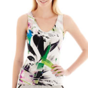 Bisou Bisou® V-Neck Print Tank Top