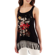 i jeans by Buffalo Fringe Tank Top