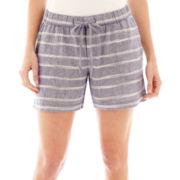 Liz Claiborne® Linen Shorts