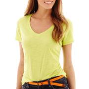 Stylus™ Short-Sleeve Relaxed Fit V-Neck Slub T-Shirt