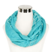 Diamond-Stitch Solid Infinity Scarf