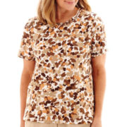 Alfred Dunner® Summer Short-Sleeve Tile Print T-Shirt