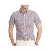IZOD® Short-Sleeve Plaid Shirt