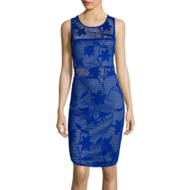 jcpenney.com | Bisou Bisou® Sleeveless Perforated Bodycon Dress