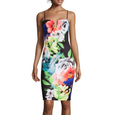 jcpenney.com | Bisou Bisou® Sleeveless Print Dress