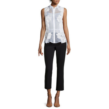 jcpenney.com | Worthington® Organza Sleeveless Peplum Top or Kicky Cropped Pants - Tall
