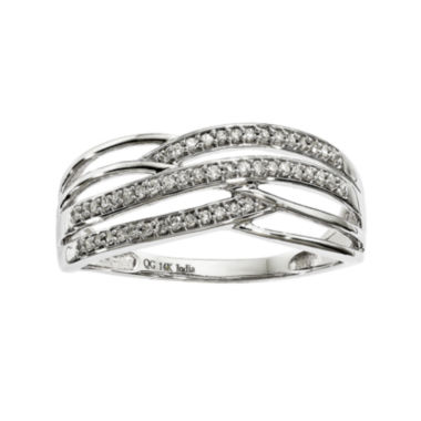 jcpenney.com | 1/7 CT. T.W. Diamond 14K White Gold Multi-Lined Ring