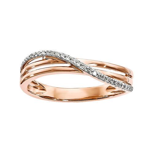 1/10 CT. T.W. Diamond 14K Rose Gold Ring