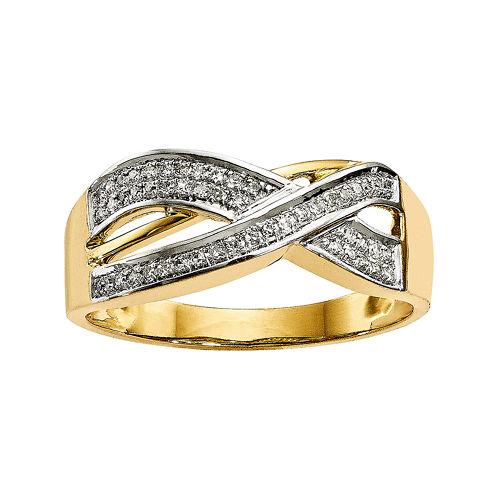 1/7 CT. T.W. Diamond 14K Yellow Gold Ring