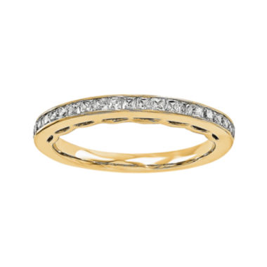 jcpenney.com | 1/10 CT. T.W. Diamond 14K Yellow Gold Wedding Band