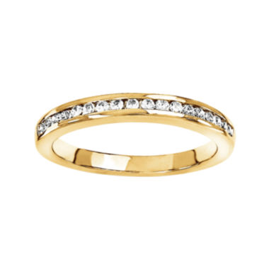 jcpenney.com | 1/4 CT. T.W. Diamond 14K Yellow Gold Wedding Band