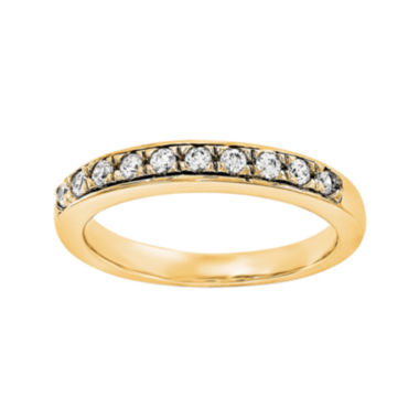 jcpenney.com | 1/2 CT. T.W. Diamond 14K Yellow Gold Wedding Band