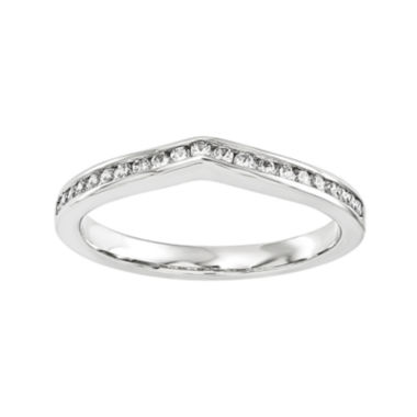 jcpenney.com | 1/7 CT. T.W. Diamond 14K White Gold Wedding Band