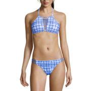 Arizona Take The Plunge Tie-Dyed Bralette Swim Top or Hipster Swim Bottoms - Juniors