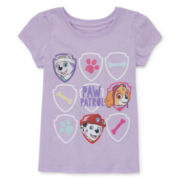 Paw Patrol Short-Sleeve Paw Graphic Print Tee - Toddler Girls 2t-4t