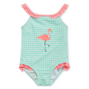 Angel Beach Gingham Swimsuit - Toddler Girls 2t-5t