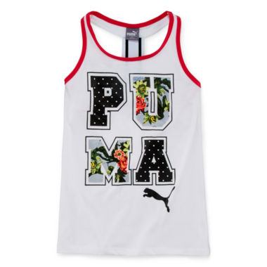 jcpenney.com | Puma® Paradise Graphic Print Tank Top - Girls