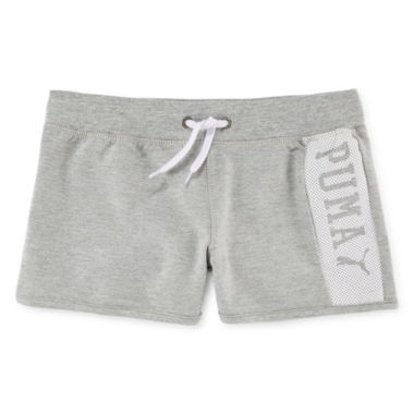 jcpenney.com | Puma® Active French Terry Shorts - Girls