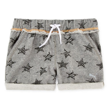 jcpenney.com | Puma® Starry Cuff French Terry Shorts - Girls