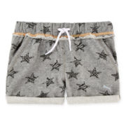 Puma® Starry Cuff French Terry Shorts - Girls