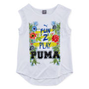 Puma® Paradise Graphic Print Tank Top - Girls