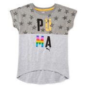 Puma® Short-Sleeve Starry Graphic Tee - Girls