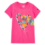 Puma® Short-Sleeve Pixel Cat Tee - Girls