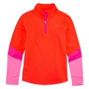 Champion® Long-Sleeve Colorblock Quarter-Zip Shirt - Girls