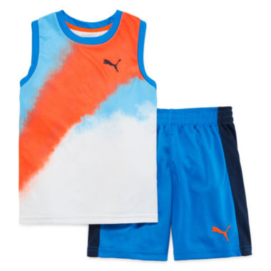 jcpenney.com | Puma® 2-pc. Muscle Tee with Shorts Set -  Preschool Boys 4-7