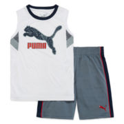 Puma® 2-pc. Muscle Tee with Shorts Set - Boys 8-20