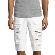 Akademiks® Frank Flat-Front Denim Shorts