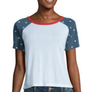Fifth Sun™ Short-Sleeve Raglan Ringer Tee - Juniors