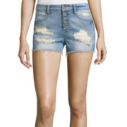 Arizona High-Rise Denim Shorts  - Juniors