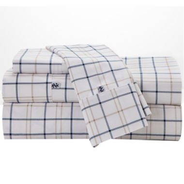 jcpenney.com | IZOD® 200tc Windowpane Plaid Sheet Set