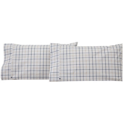 IZOD® Windowpane Plaid Set of 2 Pillowcases