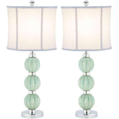 jcpenney.com | Safavieh Leyla Set of 2 Green Globe Lamp