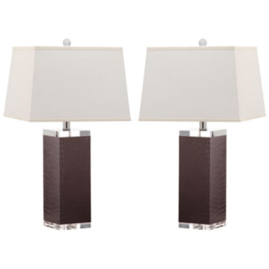 jcpenney.com | Safavieh Drake Faux-Leather Table Lamp- Set of 2