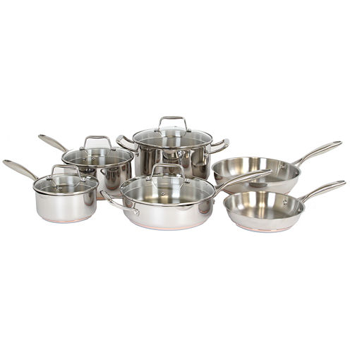 Oneida® 10-pc. Stainless Steel Copper-Base Cookware Set