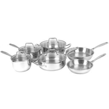 jcpenney.com | Oneida® 10-pc. Stainless Steel Cookware Set
