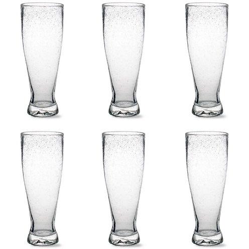 Tag Bubble Glass Set of 6 Pilsner Glasses