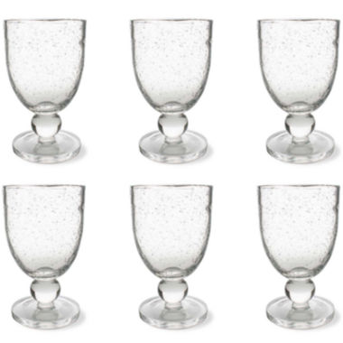 jcpenney.com | Tag Bubble Glass Set of 6 Goblet Glasses