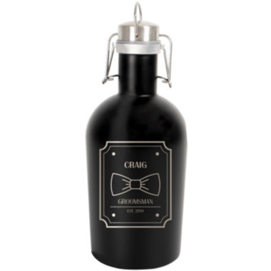 jcpenney.com | Cathy's Concepts Personalized 64-oz. Black Stainless Steel Groomsman Growler