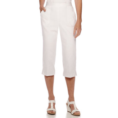 jcpenney.com | Alfred Dunner® White Now Lace Trim Capris